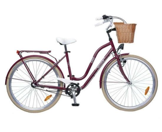 Neuzer Summer 28-as női városi kerékpár, agyváltós,3s, acél, 17-es, padlizsán-fehér