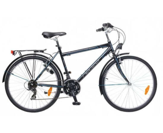 Neuzer Venezia 30 26-os férfi városi kerékpár, 21s, acél, 19-es, fekete-cián-fehér