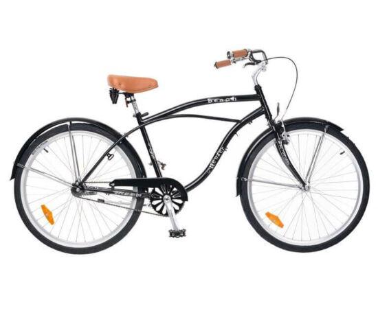 Neuzer Beach 26-os férfi cruiser kerékpár, fekete