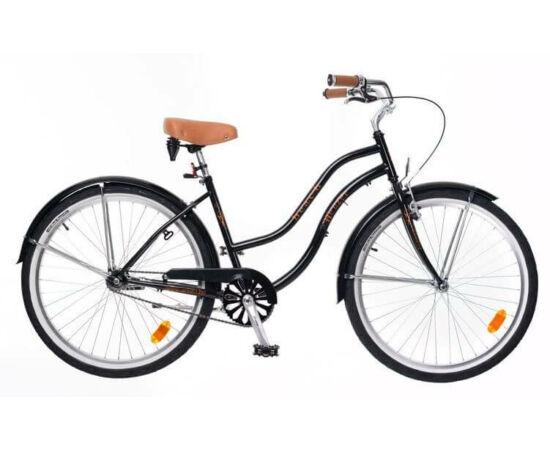 Neuzer Beach 26-os női cruiser kerékpár, fekete
