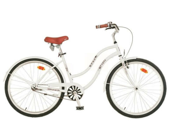 Neuzer Beach 26-os női cruiser kerékpár, fehér