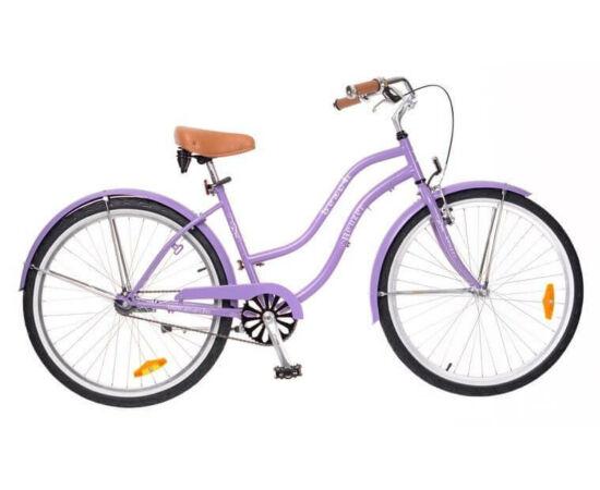 Neuzer Beach 26-os női cruiser kerékpár, lila