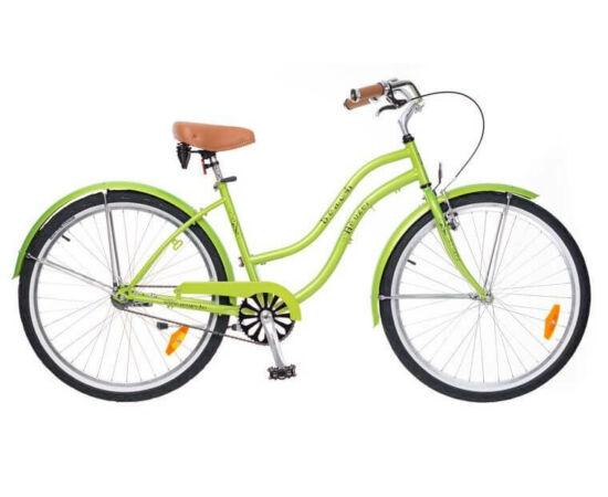 Neuzer California 26-os női cruiser kerékpár, agyváltós (3s), neonzöld