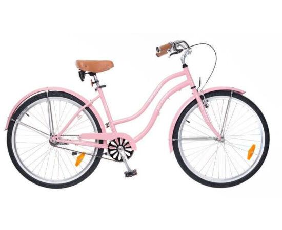 Neuzer Beach 26-os női cruiser kerékpár, rózsaszín
