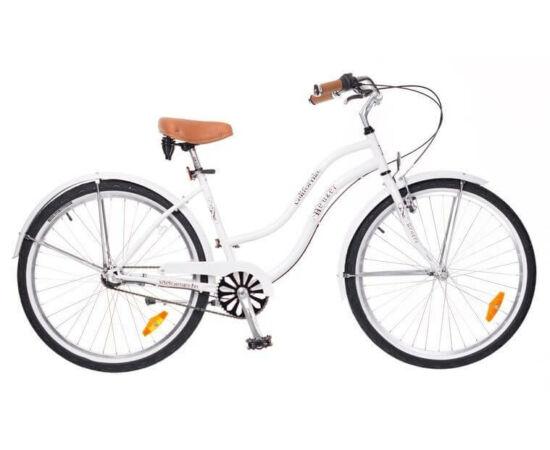 Neuzer California 26-os női cruiser kerékpár, agyváltós (3s), fehér