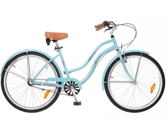 Neuzer California 26-os női cruiser kerékpár, agyváltós (3s), kék / celeste