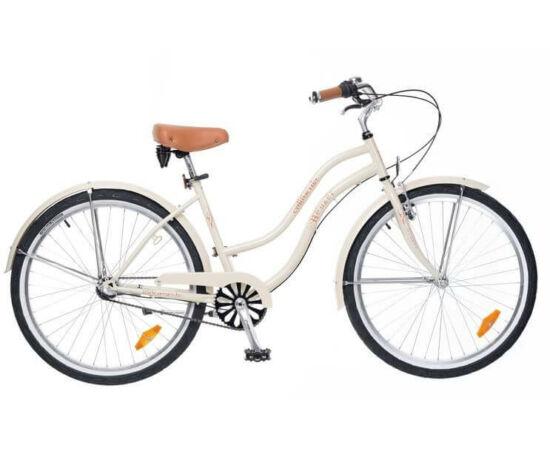 Neuzer California 26-os női cruiser kerékpár, agyváltós (3s), krém