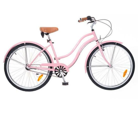 Neuzer California 26-os női cruiser kerékpár, agyváltós (3s), rózsaszín