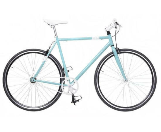 Neuzer Skid férfi 700c fixi-single speed kerékpár, acél, 60  cm, celeste-fehér