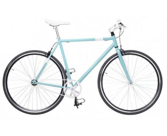 Neuzer Skid férfi 700c fixi kerékpár, acél, 48 cm, celeste-fehér