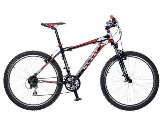 """Neuzer Tempest Plus férfi sport 26"""" MTB kerékpár 17-es fekete-piros-fehér"""