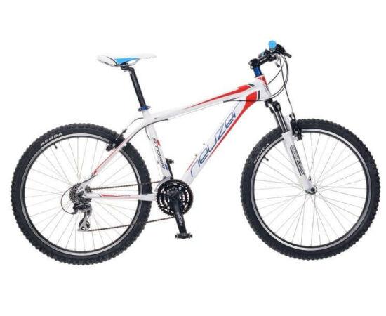 """Neuzer Storm Plus férfi hobbi 26"""" MTB kerékpár 21-es fehér-piros-kék"""