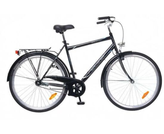 Neuzer Balaton 28-as férfi városi kerékpár, 19 col, fekete