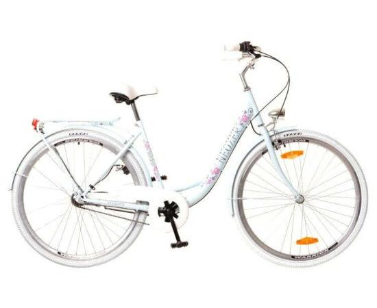 Neuzer Balaton Premium 26-os női városi kerékpár acél, 1s, acél, 18-as, világoskék, virágmintás