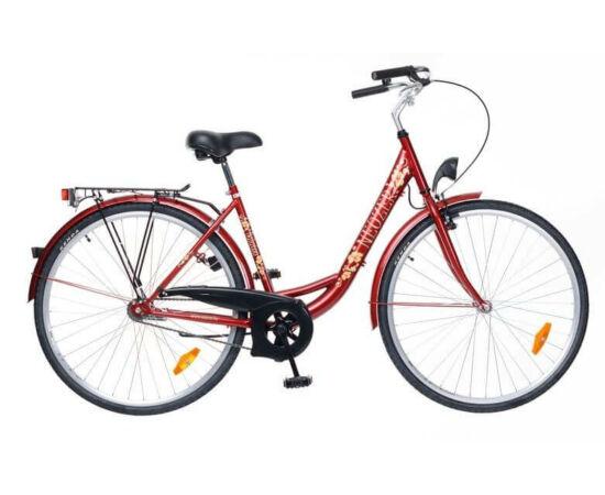 Neuzer Balaton 26-os női városi kerékpár bordó, virágmintás