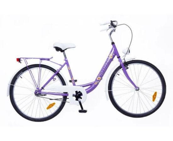 Neuzer Balaton Plus 26-os női városi kerékpár lila, virágmintás