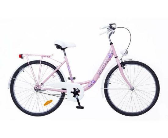 Neuzer Balaton Plus 26-os női városi kerékpár világos rózsaszín, virágmintás