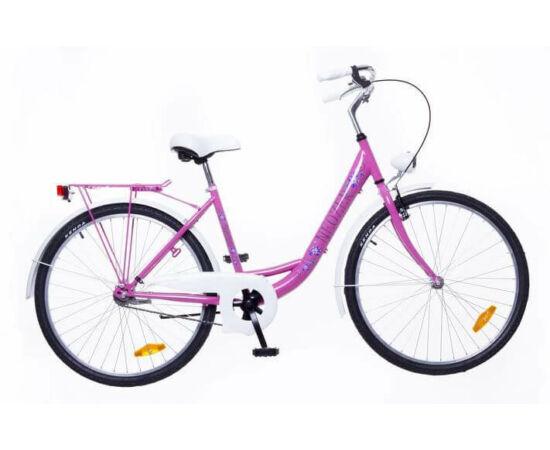 Neuzer Balaton Plus 26-os női városi kerékpár rózsaszín, virágmintás