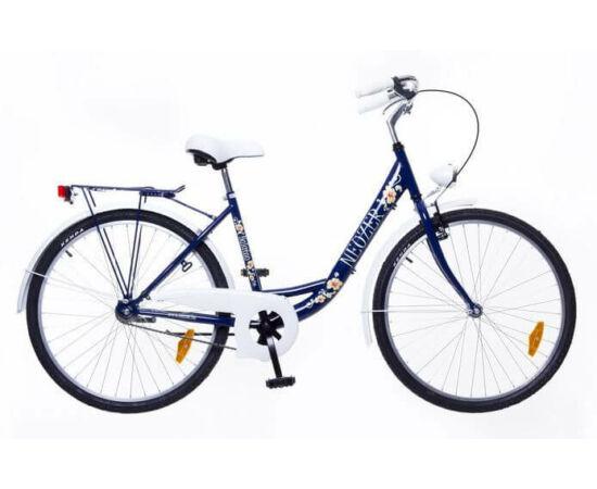 Neuzer Balaton Plus 26-os női városi kerékpár sötétkék, virágmintás