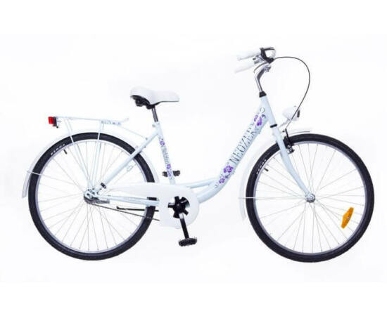 Neuzer Balaton Plus 26-os női városi kerékpár világoskék, virágmintás
