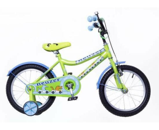 Neuzer 16-os BMX fiú kerékpár, nenzöld-világoskék
