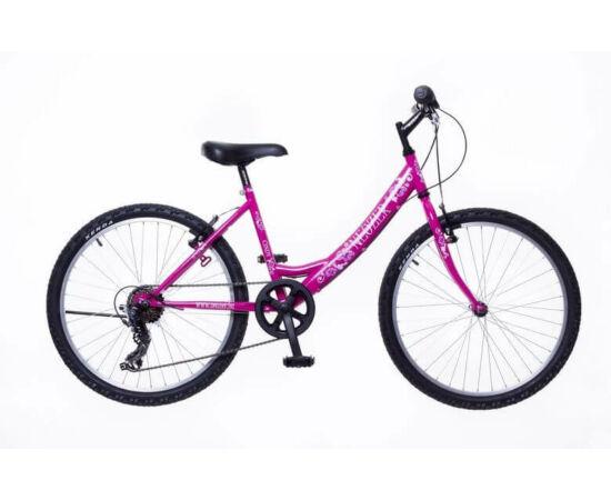 Neuzer Cindy 24-es lány acél kerékpár, 6s, rózsaszín