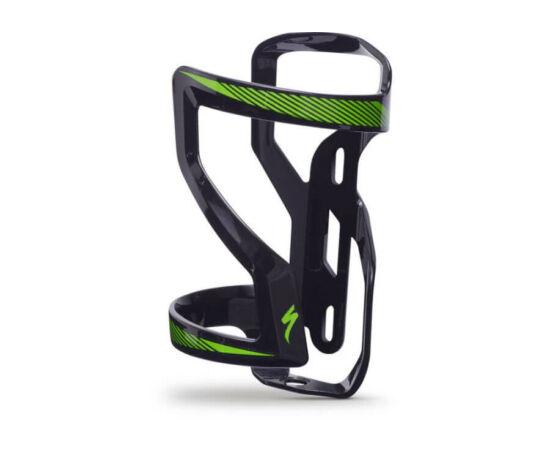 Specialized Zee Cage II műanyag kulacstartó, balos, fekete-zöld