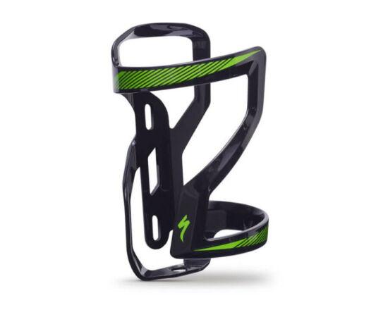 Specialized Zee Cage II műanyag kulacstartó, jobbos, fekete-zöld