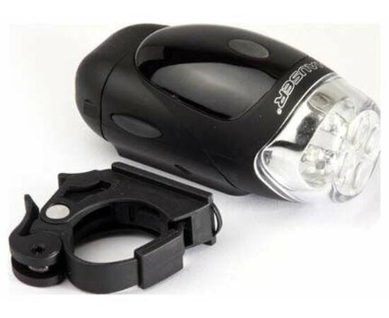 XC Light XC-754 első lámpa, 4 LED, 4 funkció, fekete, elemek nélkül