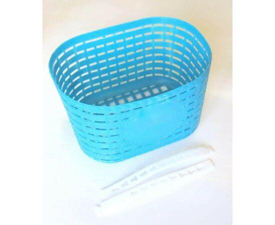 Trinity műanyag első kosár 12-20-as gyerek kerékpárra, kék