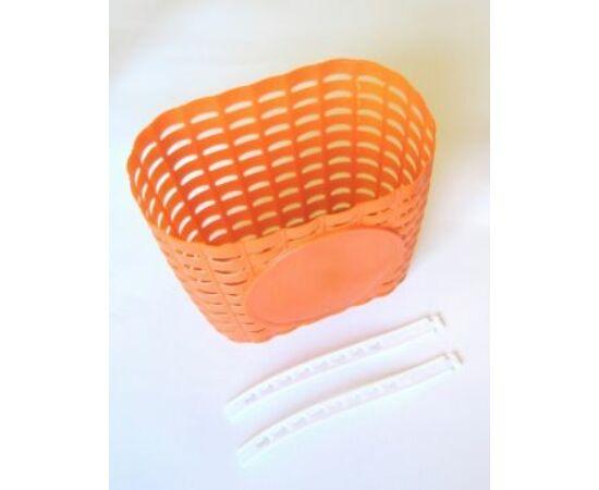 Trinity műanyag első kosár 12-20-as gyerek kerékpárra, narancs