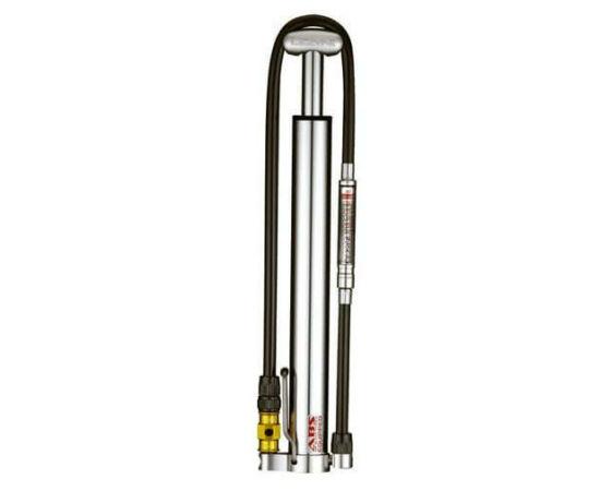 Lezyne Micro Floor Drive HVG alumínium műhelypumpa, 6,2 bar, minden szeleptípushoz, ezüst