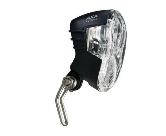 Axa Echo 15 dinamós első lámpa alkonykapcsolóval, állófény funkcióval