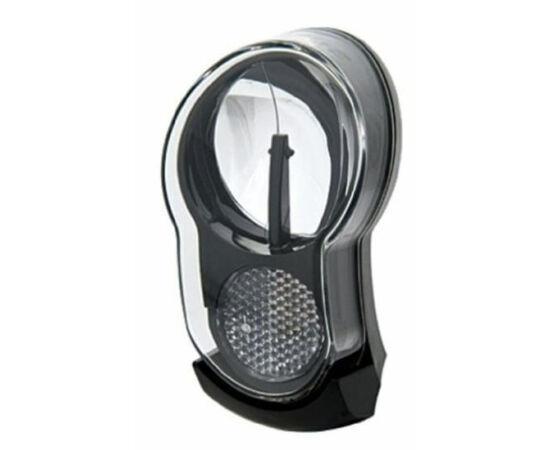 Axa Sprint 10 dinamós első lámpa kapcsolóval és állófény funkcióval, fekete