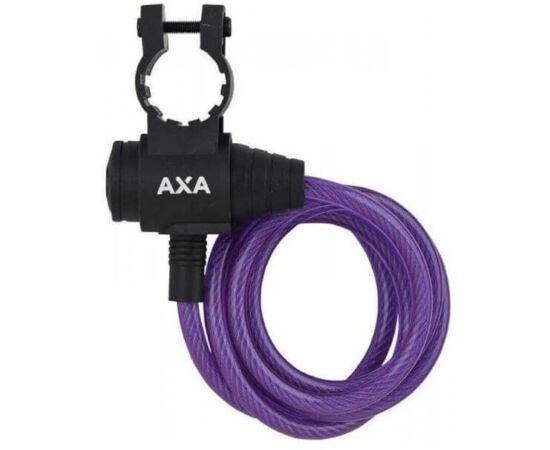 Axa Zipp kulacsos sodronyzár, 120 cm x 8 mm, lila