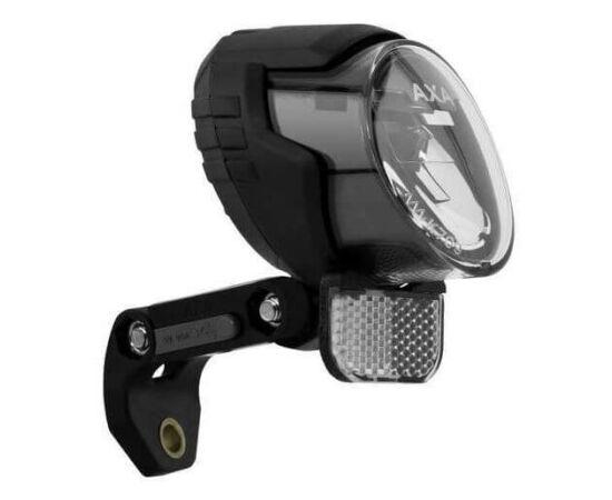 Axa LUX 70+ dinamós első lámpa alkonykapcsolóval, állófény és USB töltő funkcióval