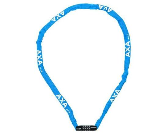 Axa Rigid számkombinációs integrált láncos lakat, 120 cm, kék