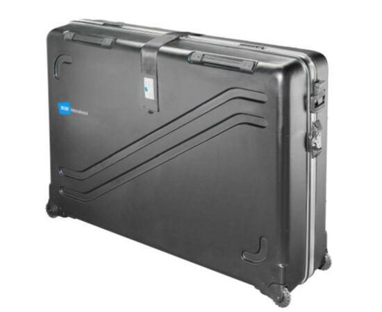 B&W Kerékpárszállító bőrönd, fekete