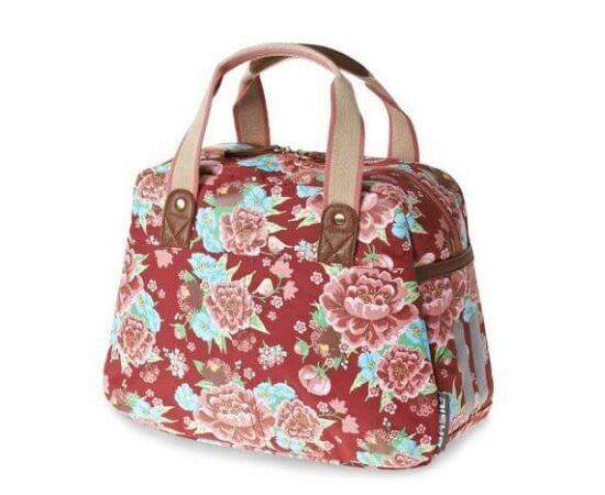 Basil Bloom Carry All táska csomagtartóra, 11L, virágos, piros