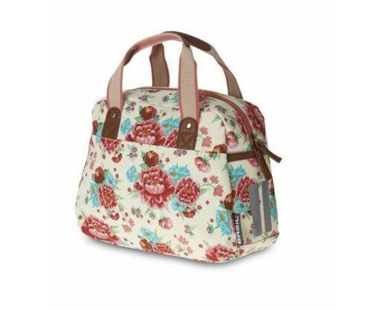 Basil Bloom Carry All táska csomagtartóra, 11L, virágos, fehér