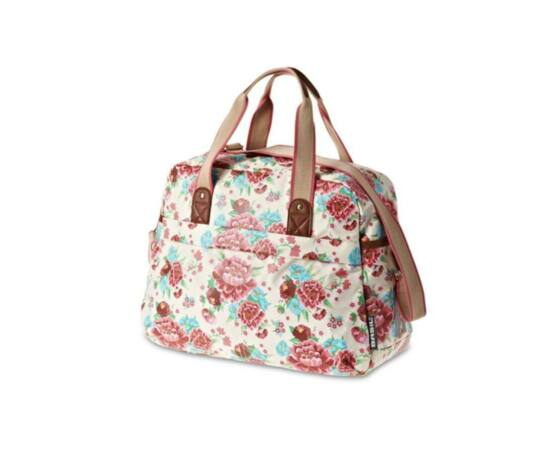 Basil Bloom Carry All táska csomagtartóra, virágos, fehér