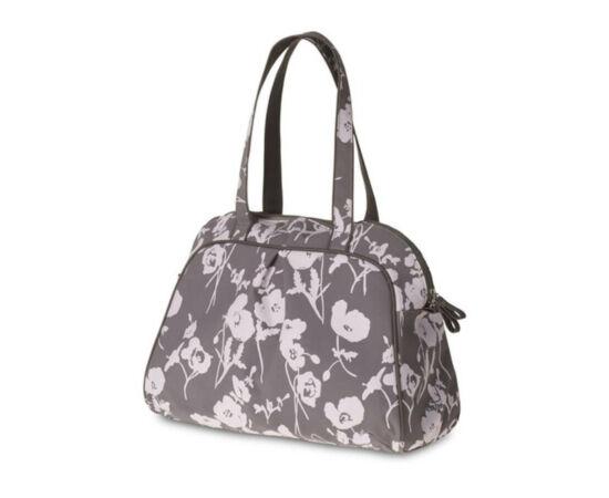 Basil Elegance Carry All táska csomagtartóra, virágos, szürke