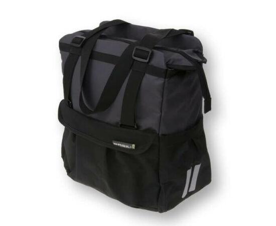 Basil Shopper XL táska csomagtartóra, fekete-antracit