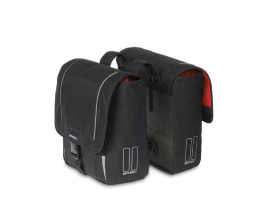 Basil Sport Design kétrészes  táska csomagtartóra, fekete
