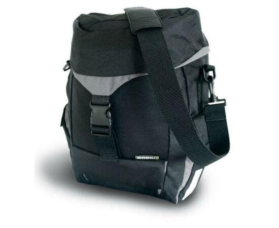 Basil Sports egy részes táska csomagtartóra, 19L, fekete