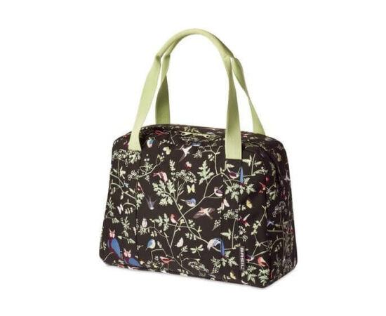 Basil Wanderlust Carry All egy részes táska csomagtartóra, 18L, madár mintás, fekete