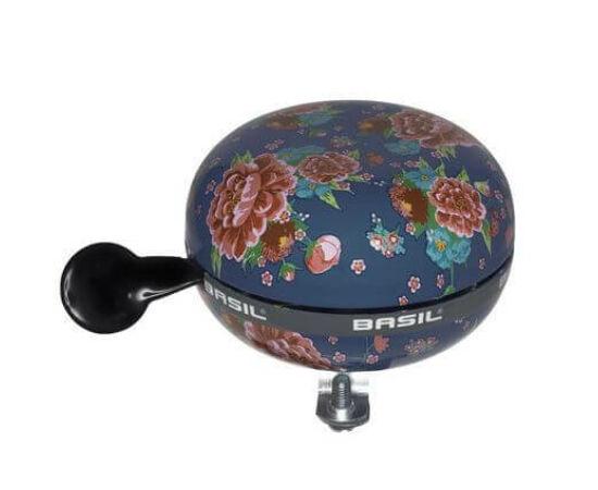 Basil acél csengő, 80 mm, sötétkék - virágos