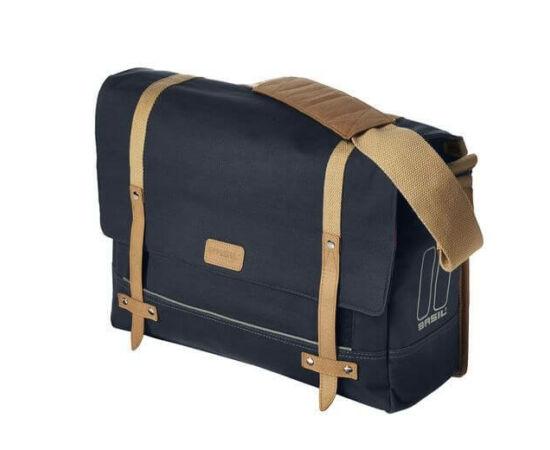 Basil Portland Messenger egy részes táska csomagtartóra, 20L, sötétkék