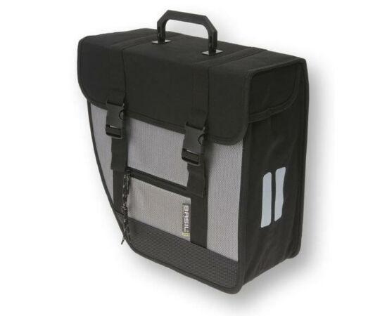 Basil Tour Single egy részes táska csomagtartóra, bal oldali, 17L, fekete-szürke
