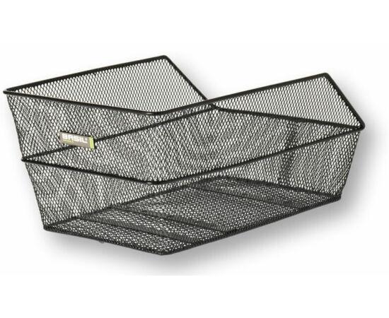 Basil Cento hátsó kosár, 39x22x21 cm, fém, sűrű szövésű, fekete